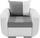 Einsitzer Faro - Chromfarben/Hellgrau, KONVENTIONELL, Holz/Textil (94/90/92cm)
