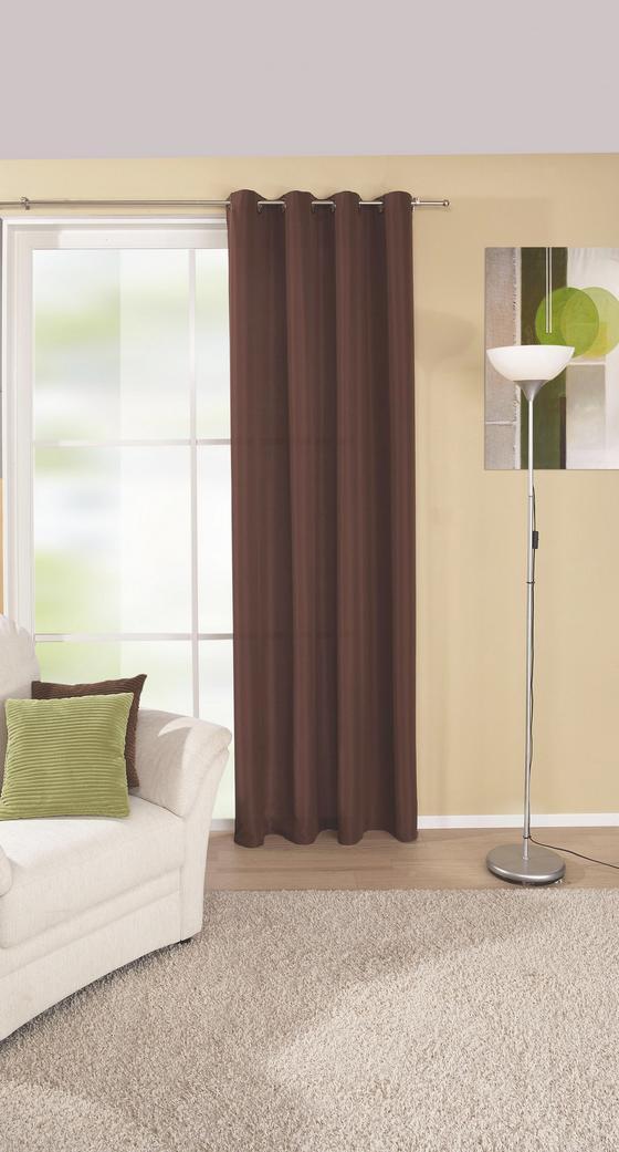 Készfüggöny Ocean - barna, konvencionális, textil (140/245cm)
