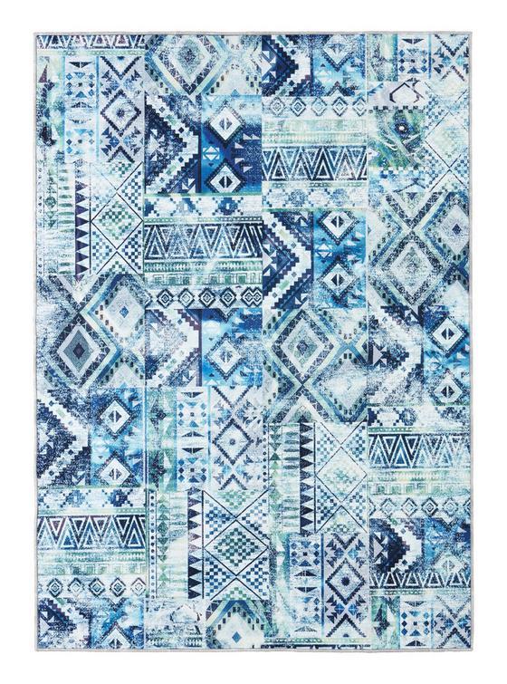 Všívaný Koberec Kashi 2 - modrá/zelená, textil (160/230cm) - Mömax modern living