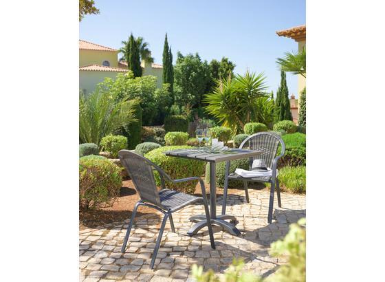 Zahradní Stůl Sammy 6 - šedá/antracitová, kov/umělá hmota (70/72/70cm) - Mömax modern living