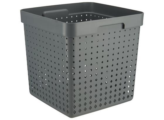 Regálový Košík Seoul - Xl - sivá, Konvenčný, plast (29,6/29,6/29,6cm)