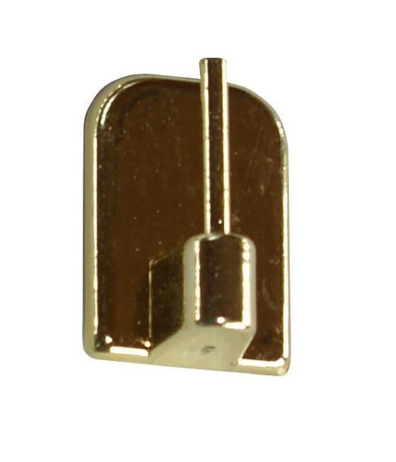 Selbstklebehaken Messing - Goldfarben, KONVENTIONELL, Kunststoff/Metall