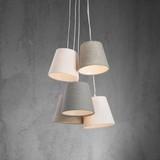 Závěsné Svítidlo Angelina - bílá/světle šedá, Moderní, kov/textil (55/120cm) - Mömax modern living