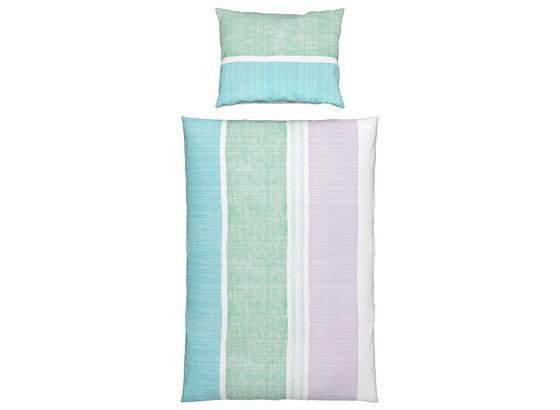 Bettwäsche Lola - Blau/Grau, KONVENTIONELL, Textil - Ombra