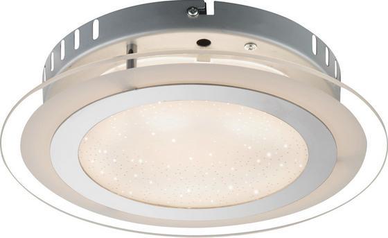 LED-Deckenleuchte Karanta,ø 27cm - Silberfarben, MODERN, Glas/Metall (27/6,5cm)
