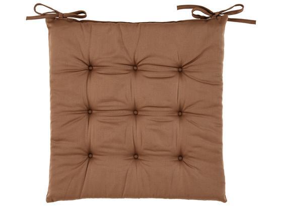 Sedací Vankúš Lola -based- - hnedá, textil (40/40/2cm) - Based