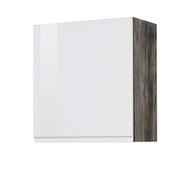 Küchenoberschrank Cardiff B: 50 cm Weiß/Vintage - Eichefarben/Weiß, Basics, Holzwerkstoff (50/57/34cm)