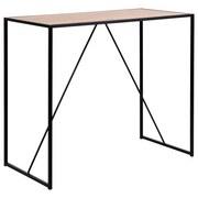 Bartisch Seaford B:120 cm Eiche Dekor - Eichefarben/Schwarz, Basics, Holzwerkstoff/Metall (120/60/105cm) - MID.YOU