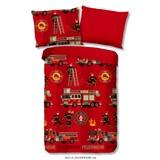 Bettwäsche Feuerwehr 140/200cm Rot - Rot, Basics, Textil