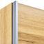 Schwebetürenschrank 218cm Landeck Extra Eiche Dekor/Grau - KONVENTIONELL, Holzwerkstoff (218/210/59cm)