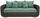 Dreisitzer-sofa Faro B: 225cm - Chromfarben/Dunkelgrau, MODERN, Holz/Textil (225/90/92cm) - Ombra