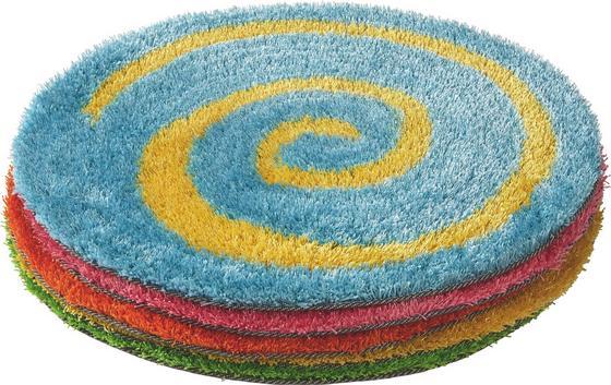 Kinderteppich Alice Ø 70 cm - Blau/Pink, KONVENTIONELL, Textil (70cm) - Luca Bessoni