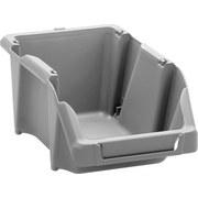 Sichtbox Hubert - Grau, KONVENTIONELL, Kunststoff (16,5/10,3/7,5cm) - HOMEZONE