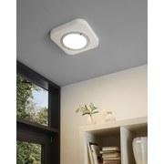 LED-Deckenleuchte Puyo - Chromfarben/Weiß, MODERN, Kunststoff/Metall (30/30/4cm)