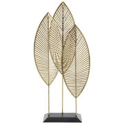 Skulptur Erik - Goldfarben/Schwarz, LIFESTYLE, Metall (25/9/50cm) - Luca Bessoni