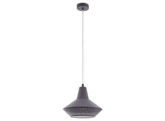 Hängeleuchte Piondro - Grau, MODERN, Metall (33/110cm)