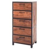 Highboard Echtholz B 58cm Mumbai, Walnussfarben - Walnussfarben, Basics, Holz/Metall (58/120/40cm)