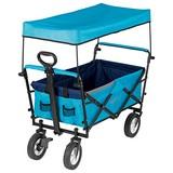 Bollerwagen Maxxmee Faltbar Blau - Blau, Basics, Kunststoff/Textil (106/55/92cm)