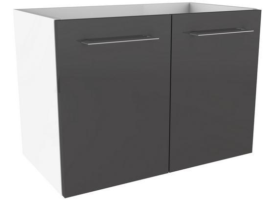 Waschtischunterschrank mit Türdämpfer Lima B: 60cm - Weiß/Grau, MODERN, Holzwerkstoff (60/42/35cm) - Fackelmann