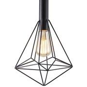 Závesná Lampa Pietro - čierna, Moderný, kov (25/36cm) - MODERN LIVING
