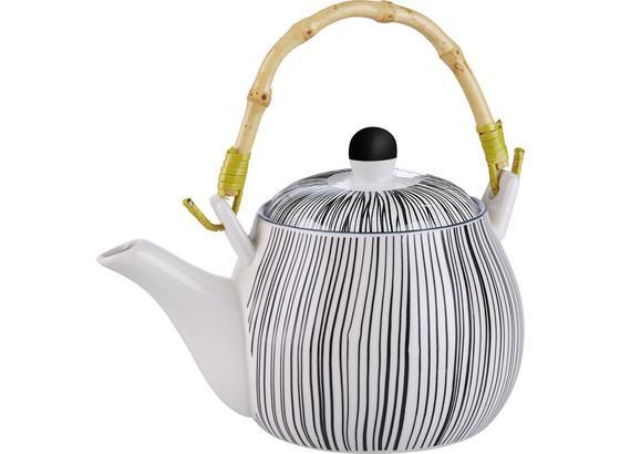 Konvice Na Čaj Shiva - bílá/černá, Lifestyle, keramika (18/11cm) - Mömax modern living