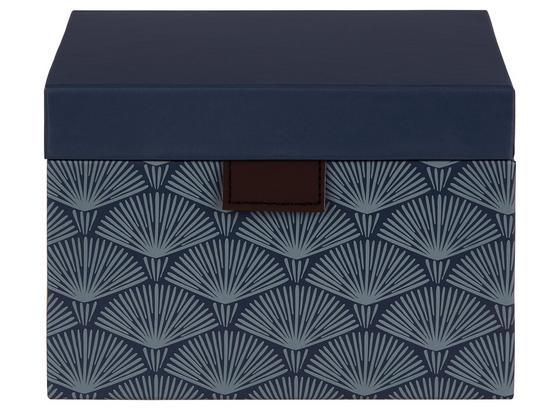 Aufbewahrungsbox Lola - Dunkelblau, Basics, Karton (16/16/11cm)