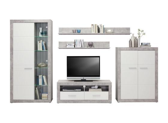 Odporúčaná Kombinácia Malta - Beton 5 - sivá/biela, Moderný, kompozitné drevo (320/197/42cm)