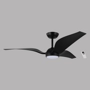 Deckenventilator Mosteiros - Schwarz, MODERN, Kunststoff/Metall (142/37cm)