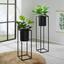 Kvetináč Kiara - čierna, Štýlový, kov (21/80,5cm) - Mömax modern living