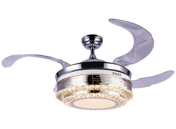Deckenventilator Cabrera D: 100 cm - Chromfarben/Transparent, Basics, Kunststoff/Metall (100/68,5cm)