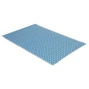 Outdoorteppich 150x200 Blau/Weiß - Blau/Weiß, MODERN, Kunststoff (150/200cm)