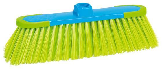 Besen 2k ohne Stiel - Blau/Grün, KONVENTIONELL, Kunststoff (27cm) - Ombra