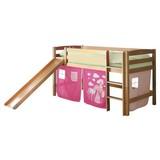 Spielbett Theo R 90x200 cm Pink - Pink/Buchefarben, Natur, Holz (90/200cm) - MID.YOU