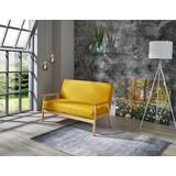 Loungesofa Hevea B: 134 cm Gelb/orange - Gelb, MODERN, Holz/Kunststoff (134/77/64cm)