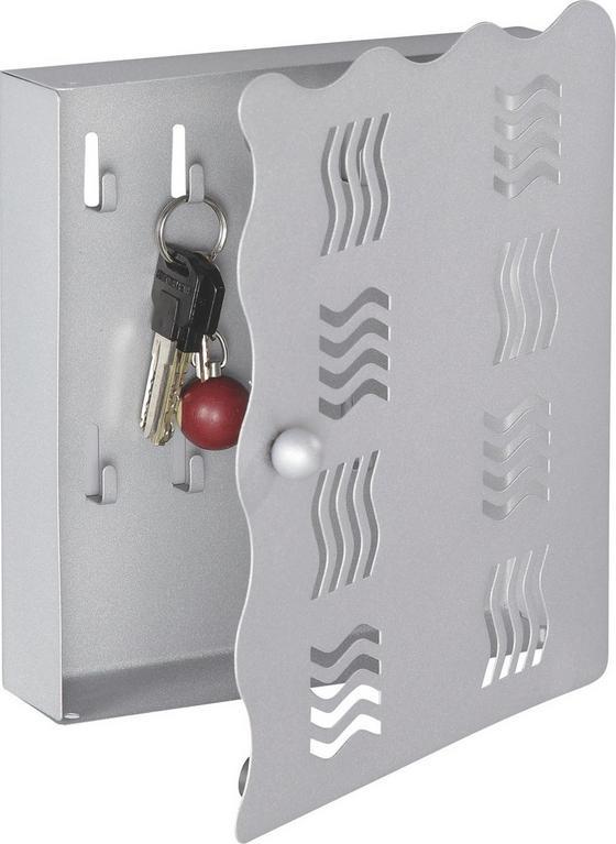 Box Na Kľúče Welle - hliníkové farby, Moderný, kov (22/24/4,50cm)