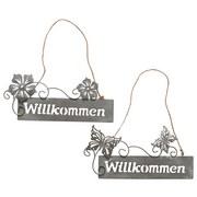 Dekoschild Willkommen 'moritz' - Grau, LIFESTYLE, Metall (28/15cm)