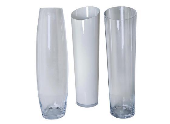 Váza Jenny -top- - biela/číre, sklo (70cm) - Mömax modern living