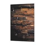 Garderobenpaneel Woody B: ca. 65 cm  Parkett - Naturfarben, MODERN, Holzwerkstoff (65/100/8cm) - Carryhome