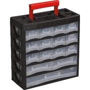 Sortimentskasten Zur Aufbewahrung - Transparent/Rot, KONVENTIONELL, Kunststoff (31,5cm)