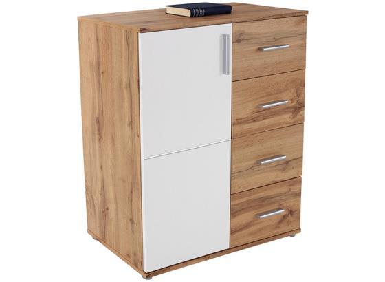 Komoda Ina 02 - bílá/barvy dubu, Moderní, kompozitní dřevo (88,2/95,2/38,3cm)