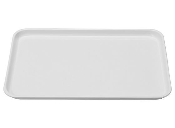Tablett 23/32cm - Weiß, KONVENTIONELL, Kunststoff (23/2/32cm)