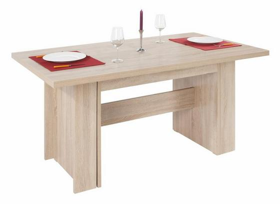 Výsuvný Stôl Hamilton 160 Az - farby dubu, Moderný, drevený materiál (160/74/90cm)