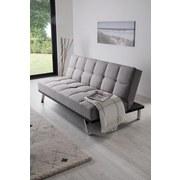 Schlafsofa Roma B: 179cm - Edelstahlfarben/Grau, Basics, Textil/Metall (179/84/96cm) - Ombra