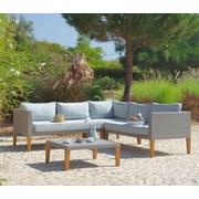 Loungegarnitur Alexia - Braun/Grau, MODERN, Holz/Kunststoff (217/217cm) - LUCA BESSONI