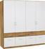Skříň Šatní Aalen-extra - bílá/barvy dubu, Konvenční, kompozitní dřevo/sklo (181/197/54cm)
