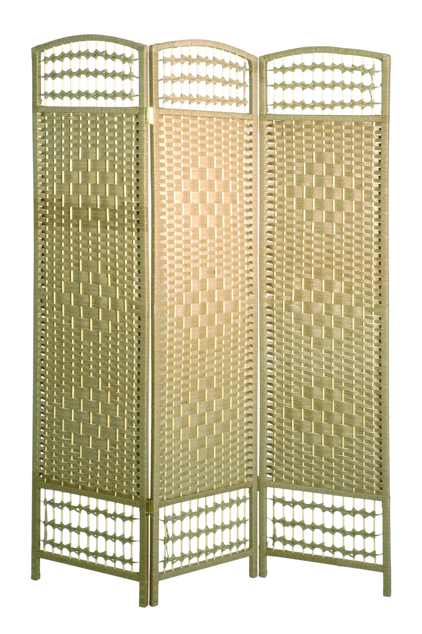 3 Flügel Paravent Bettina - Naturfarben, MODERN, Holz (120/170/2cm)