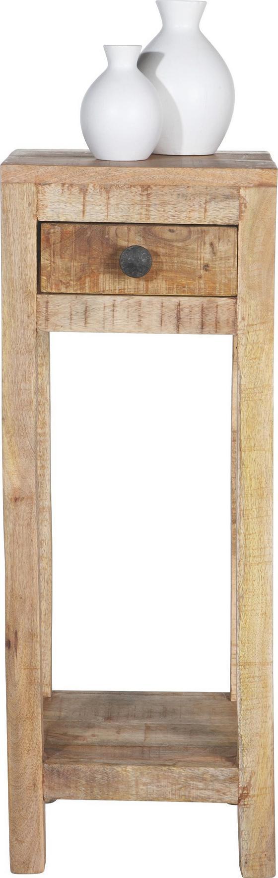 Odkládací Stolek Industry - přírodní barvy, dřevo (30/80/30cm) - James Wood