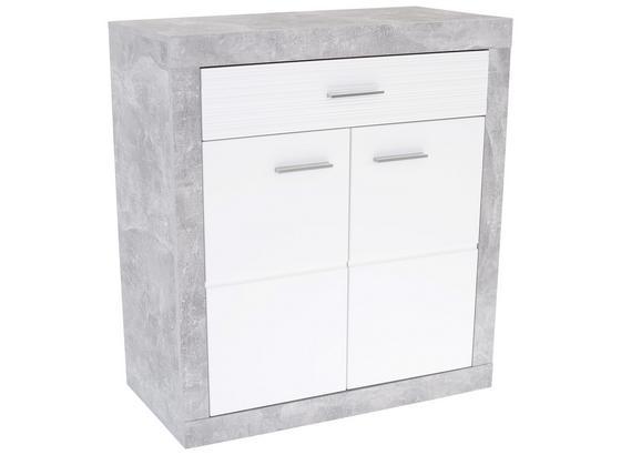 Komoda Malta - sivá/biela, Moderný, kompozitné drevo (95/98,7/36cm)