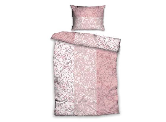 Posteľná Bielizeň Greta - biela/ružová, Basics, textil (140/200cm)