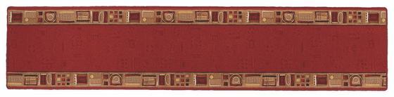 Läufer Vitali - Rot, KONVENTIONELL, Textil (67/300cm) - Ombra